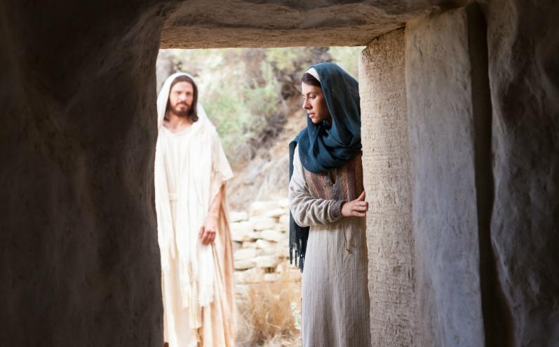 Христос та Марія біля гробниці